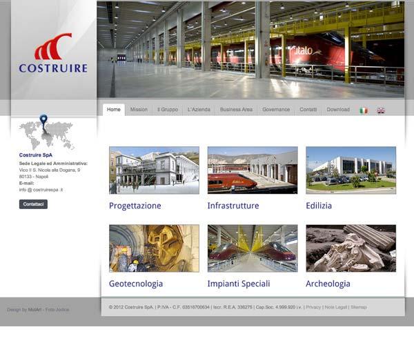 Costruire SpA – Sito web
