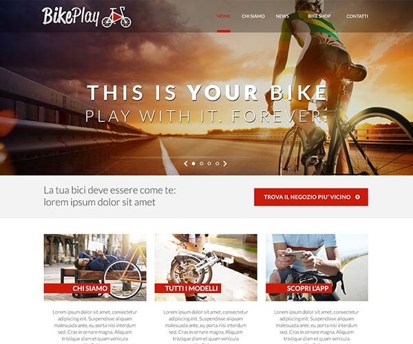 Bike Play – Sito Web